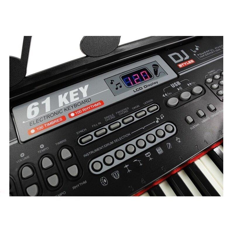 """Vaikiškas sintezatorius """"Piano Keys"""", juodas"""